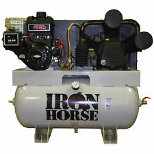 Iron Horse 12-HP 30-Gallon Two-Stage Truck Mount Air Compressor Briggs & Stra...