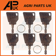 JCB 3CX Ignition Key pack 6pcs for Switch Starter JCB Parts Digger Plant Keys