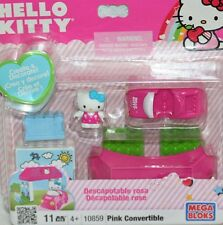 HELLO KITTY MEGA BLOKS # 10859 PINK CONVERTIBLE