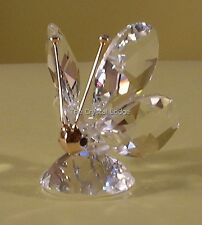 "SWAROVSKI CRYSTAL MINI BUTTERFLY ""MASK"" FACE/NOSE 012774 MINT BOXED RETIRED RARE"