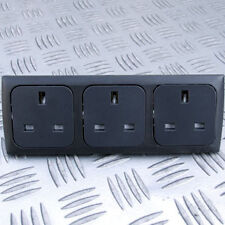 TRIPPLE 13A SOCKET KIT INC BACK BOXES for C-LINE CBE SYSTEMS CARAVAN MOTORHOME