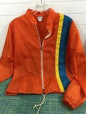 VTG MEN'S ORANGE ZIPPER SURFER WINDBREAKER JACKET SZ XL BY CALIFORNIA SWIMWEAR