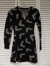 NWT Sourpuss Batty Sweater Dress Sz Small Halloween Hot Sexy  Measurements Incl
