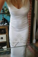 GEORGE GROSS Stunning Embellished Fishtail Evening Dress Gown Formal Size 8