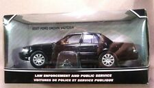 2007 Ford Crown Victoria Unmarked Police Car Black 1/24 by Motormax 76400 NIB!