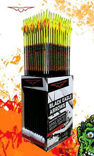 12 Black Eagle Zombie Slayer Fletched CRESTED Carbon Arrows 400/.003 400 1 dozen