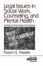 Legal Issues in Social Work, Counseling, and Mental Health : Guideline-ExLibrary
