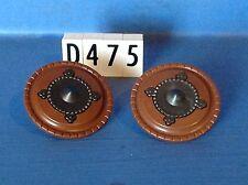(D475) playmobil 2 boucliers marron et gris foncé, chevalier chateau 3666 3268