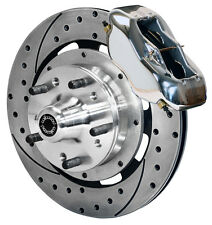 """WILWOOD DISC BRAKE KIT,FRONT,FOR WWE PROSPINDLE,12"""" DRILLED ROTORS,POLISH CALIP."""
