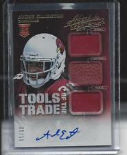 ANDRE ELLINGTON 2013 ABSOLUTE TOOLS OF THE TRADE TRIPLE JERSEY PATCH AUTO RC /10