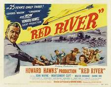 RED RIVER Movie POSTER 22x28 Half Sheet John Wayne Montgomery Clift Walter