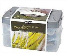 Pebeo Vitrail STAINED GLASS VERNICE ATELIER Workbox Set-vetro dipinto KIT