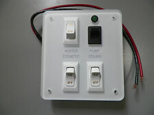*NEW* RV 4 Switch Assembly, HEATER, COSMETIC, PUMP, CEILING ON/OFF
