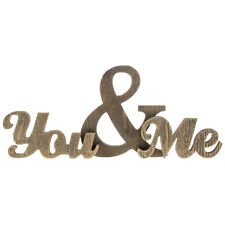 """Unique  15"""" You & Me Chunky Wood Phrase. Home Decor Sign"""
