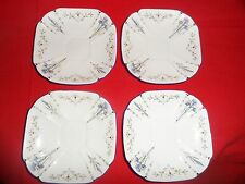 FOUR (4) LOVELY ART DECO SHELLEY SAUCERS PATTERN No.11561