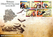 Botswana 2015 FDC Vultures 5v Set Cover Birds of Prey Stamps