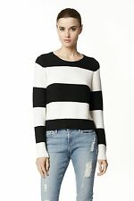 360 CASHMERE GHANA RUGBY STRIPED SWEATER XSMALL