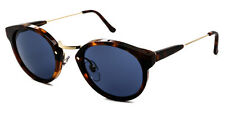 SUPER by RETROSUPERFUTURE 475 PANAMA CLASSIC HAVANA w GOLD TRIM/BLUE LENS ITALY