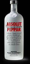 Empty 1l Absolut Peppar Vodka Bottle (#45-H)