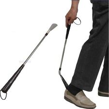 Professional Stainless Steel Long Handle Shoe Horn Lifter Flexible Shoehorn 58cm