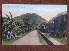 Pedro Miguel Cuba/Residential Street-Houses/Printed Color Photo PC/1915