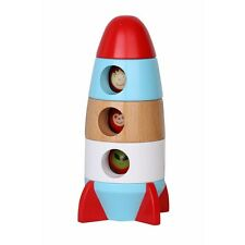 Stacking Toy - Discoveroo Wooden Magnetic Stacking Space Rocket Toy