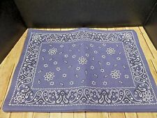 DII For the Home Set of 6 Fabric Placemats Blue Bandana Paisley Print New