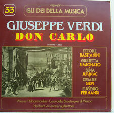 "33 VERDI DON CARLOS VOLUME TERZO BASTIANINI HERBERT VON KARAJAN 12"" LP (d204)"