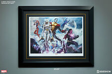 X-MEN / GOLD Framed Art Print by Sideshow ~Storm/Professor X/Colossus MARVEL