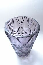 Beautiful lilac mid century vintage Czech art glass vase by Sklo Union