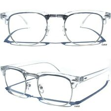 Men's or Women Half Frame Top Brow Transparent Top Clear Lens Glasses Retro