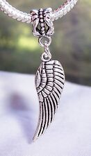 Angel Wing Rememberance Loss Bird Dangle Bead fits European Style Charm Bracelet