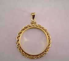 Coin Bezel Presidential Dollar Coin 14K Gold Filled Rope Mount Soldered Bail New