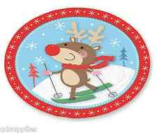 28cm Round Reindeer Christmas Dinner Plate Melamine Plastic Childrens Party MKPL
