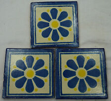 1x Hand-Made Ceramic Mexican Wall Tile Hand Painted Mexico Terracotta Tiles R19