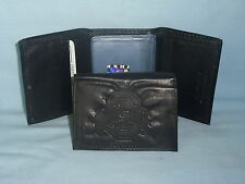 OHIO STATE BUCKEYES    Leather TriFold Wallet    NEW    black 3v