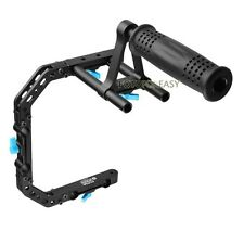 FOTGA DP3000 PRO C-Shape Support Cage Bracket + Top Handle for 15mm Rod DSLR Rig