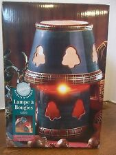 wilton jar candle lamp christmas trees shade green red plaid holiday aroma