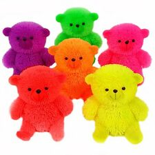 12x Flashing Puffer Teddy Bear BULK BUY Wholesale Squidgy Sensory Stress TOY