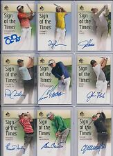 """2013/14 SP Authentic Ben Crenshaw """"Sign Of Times"""" Certified Autograph Card BV$20"""