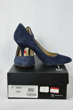 INC Womens 7 M Navy Blue Eclipse Velour High Heels With Box $69.50 MSRP