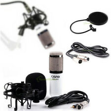 Professional Condenser Microphone Recording Studio Mic & 3.5mm/3pins XLR Cable
