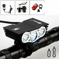 SolarStorm 3x CREE XM-L T6 LED 6000Lm Cycling Front Bicycle Lamp Bike Light
