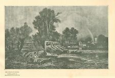 Eel Traps At Goring, by William Muller, Fishing, Vintage 1894 Antique Art Print