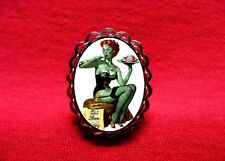 ZOMBIE PIN UP GIRL BRAIN RING ROCKABILLY PSYCHOBILLY GOTH