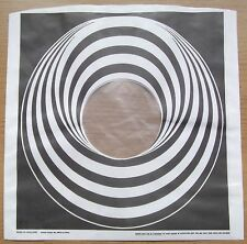 "BLACK VERTIGO SWIRL /SPIRAL 12"" LP POLY-LINED INNER SLEEVE SPECIAL DEAL (NEW)"