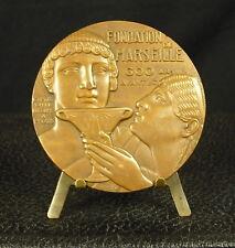 Médaille Vieux port Fondation de Marseille Gyptis et Protis Fc Vézien Medal 勋章