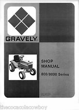 Gravely Models 800 8000 Series Tractors SERVICE manual 810 812 816S 817 8177 etc