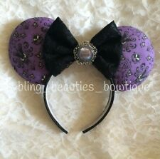 SALE! Haunted Mansion Purple Damask Minnie Mouse Ears Disney Land Headband