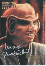 MAX GRODENCHIK Signed Trading Card ROM In STAR TREK COA